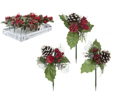 "7"" CONES & BERRIES PICKS 24PC DISPLAY"