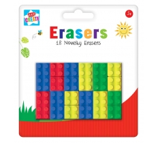 Kids Create Activity Play Brick Shape Erasers