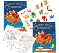 A6 CHRISTMAS STICKER BOOKS