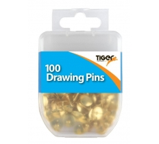 Esssential 100 Drawing Pins Brass
