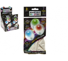 WHITE LIGHT UP BALLOONS 3PC PACK