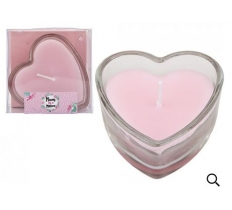 HEART SHAPED CANDLES IN GLASS HOLDER MUM IN A MILLION