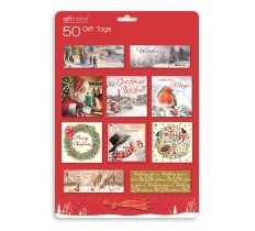 Christmas 50 Traditional Gift Tags