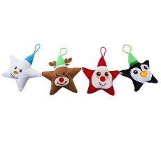 15CM PLUSH STAR SHAPED HANGING DECORATION