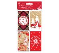 Christmas Co-ordinating Kraft Gift Tags 20 Pack