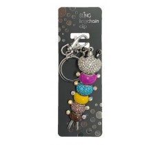 BLING CATERPILLER KEYRING WITH KEYCHAIN & CLIP