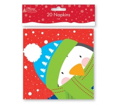 20PC XMAS NAPKIN KIDS