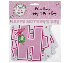 180CM HAPPY MOTHERS DAY BANNER