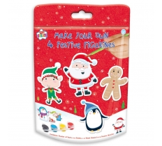 CHRISTMAS ACTIVITY FESTIVE FIGURINES 4 PACK