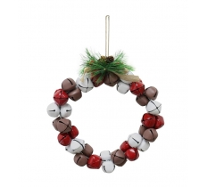 NUTBELL WREATH RED-WHITE-BROWN MIX 20cm