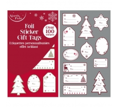 FOIL CONTEMPORARY STICKER BOOK 100 PACK