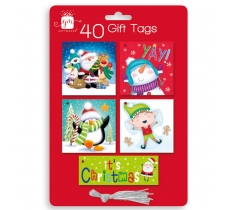 CHRISTMAS TAGS 40 NOVELTY