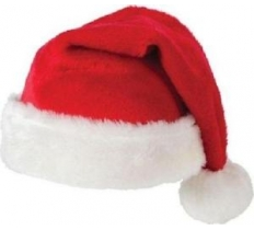 PREMIUM QUALITY SANTA HAT PLUSH WITH POM POM