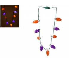 BATTERY OPERATED 9 BULB NECKLACE WITH 3 FUNCTIONS