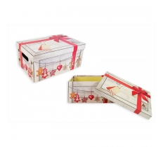 CHRISTMAS EVE BOX RED RIBBON DESIGN