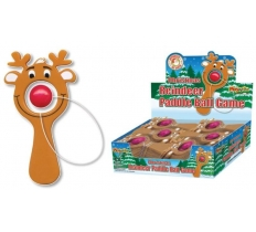 Reindeer Paddle Ball Game 10cm