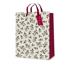 Gift Bag - Glitter Holly - Ex Large