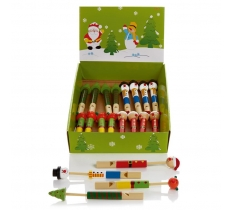 Wooden Christmas Whistle 4 Assorted
