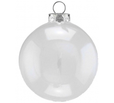 120MM CLEAR FILLABLE PLASTIC BAUBLE