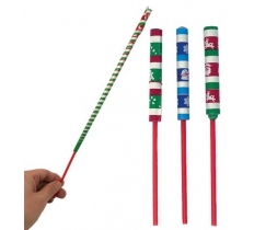 72 X CHRISTMAS PAPER SWORD FLICKERS 20CM (15P EACH)