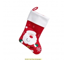 Deluxe Plush Christmas Stocking 40cm X 25cm