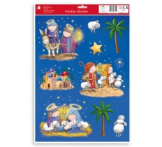 CHRISTMAS NATIVITY SCENE WITH STICKERS