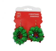 POM-POM WREATH EARRING PAIR
