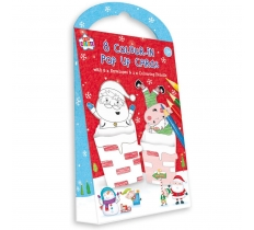 CHRISTMAS ACTIVITY 8 CHRISTMAS COLOUR IN POP UP CARDS