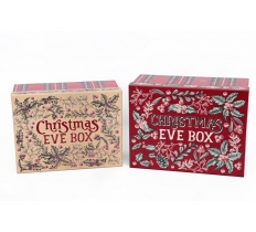 SET OF 2 XMAS EVE BOXES WITH LIDS