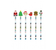 CHRISTMAS PENCIL WITH ERASER TOP