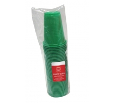 PARTY CUPS 40pk 220ml GREEN