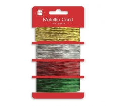 Christmas 2m Metallic Cord