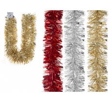6PLY THICK AND THIN TINSEL RED/GOLD/SILVER