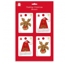 CHRISTMAS NOVELTY BROOCHES