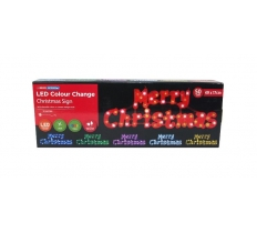 50 LED CHRISTMAS SIGN COLOURS CHANGE