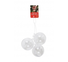 Fill Yourself Baubles 3pc 60mm