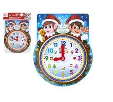 "ELF KIDS BEDTIME CLOCK WITH ADJUSTABLE HANDS 10.5"" X 13"""