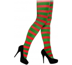 XMAS TIGHTS ADULT RED & GREEN