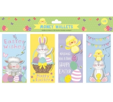 EASTER CUTE MONEY WALLETS 4 PACK