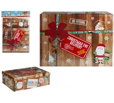 MEDIUM ' NEW XMAS DESIGN ' XMAS EVE BOX 45 X 34 X 12.5CM
