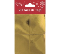 GOLD FOIL GIFT TAGS 20 PACK