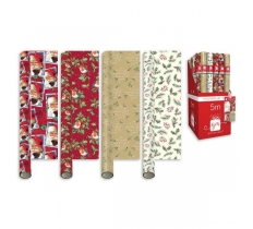 5M PAPER ELEGANT TRADITIONAL CHRISTMAS GIFT WRAP