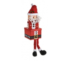 3PC SANTA PLUSH BOX WITH LEGS