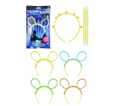 GLOW EARS 4 PC SET ASTD COLS