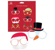 6 PACK FUN CHRISTMAS BOARD GLASSES