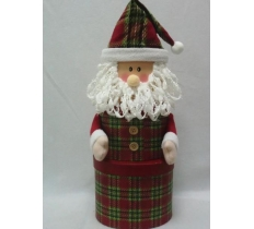 3PC OVAL SANTA PLUSH BOX