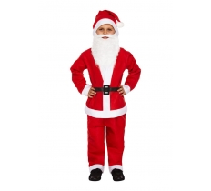 5PC CHILD SANTA SUIT MEDIUM 7-9 YEARS OLD