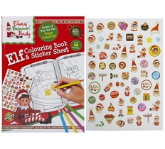 EXTRA LARGE ELF COLOURING BOOK WITH STICKER SHEET