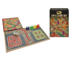 2 IN 1 SNAKES & LADDERS AND LUDO GAME SET
