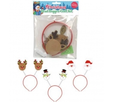 MAKE YOUR OWN CHRISTMAS HEAD BOPPER CRAFT KITS 21X16CM